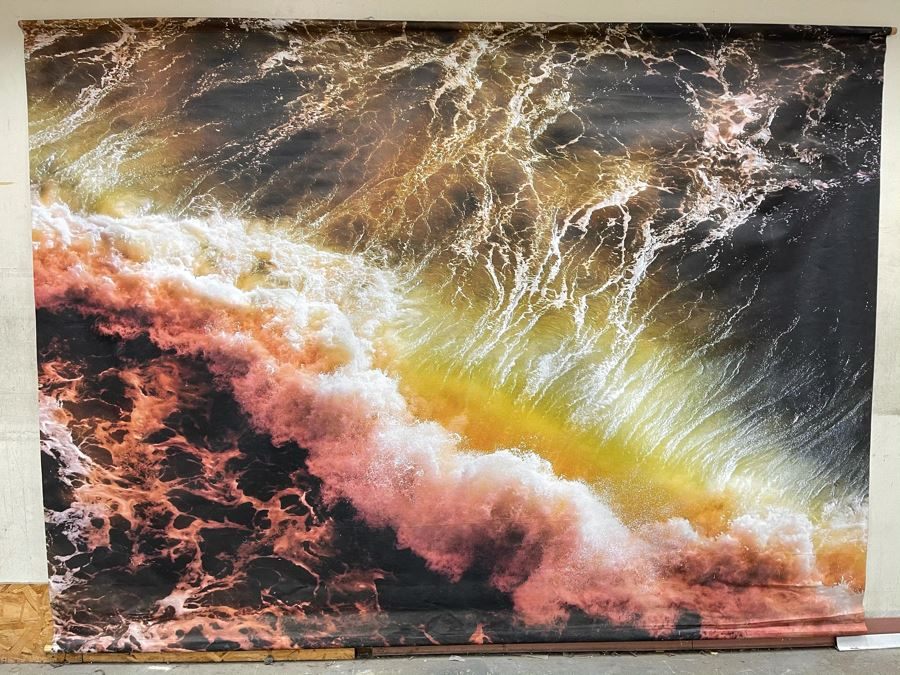 Large Breaking Wave Canvas Print From Local North County San Diego Company RAEN Sunglasses / Eyeglasses 10' X 7.4' [Photo 1]
