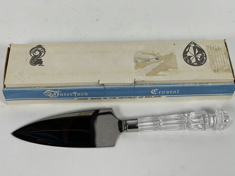 Vintage Waterford Crystal Cake Server With Box