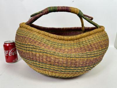 Alafiia Woven Basket Handmade In Ghana 20 X 12