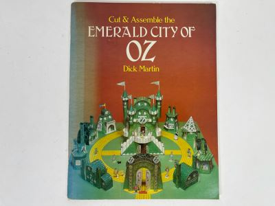 Vintage 1980 New Cut & Assemble The Emerald City Of Oz By Dick Martin Wizard Of Oz
