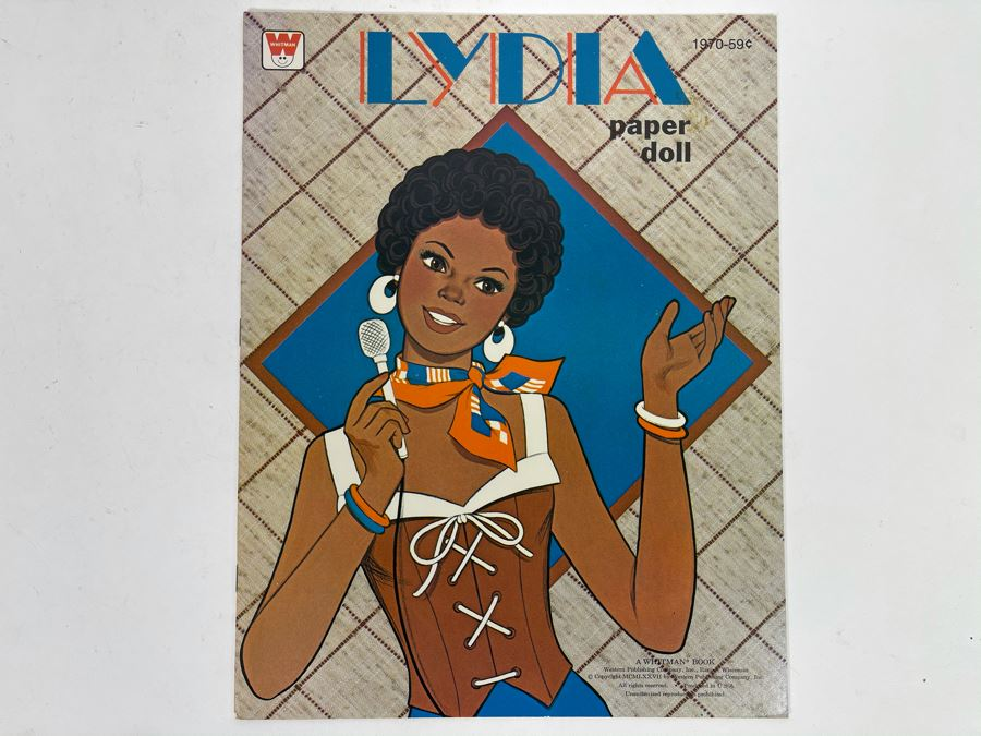 Vintage 1977 New Lydia Paper Doll Book