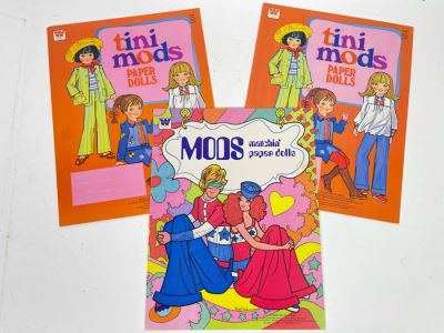 Vintage 1978 New MODS Matchin' Paper Dolls And (2) Tini Mods Paper Dolls Books