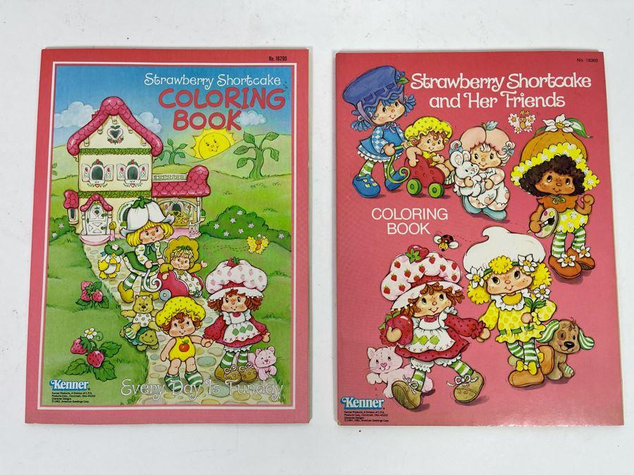 Vintage 1982 New Kenner Strawberry Shortcake Coloring Books