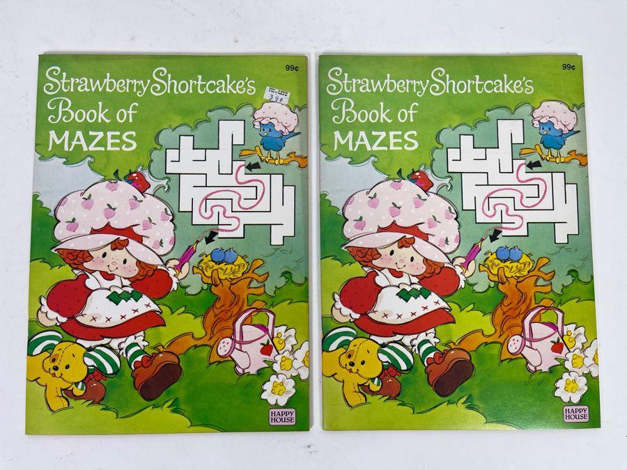 (2) Vintage 1982 New Strawberry Shortcake Book Of Mazes