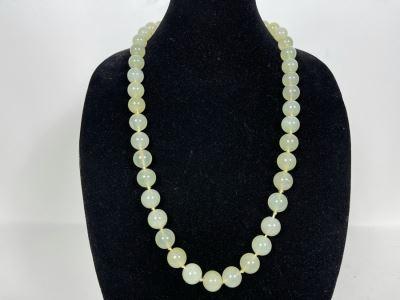 Vintage Jade Bead (0.6' Dia Beads) Necklace 30'L