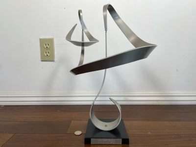 Vintage 1974 John W. Anderson Modernist Kinetic Sculpture 13W X 16.5H