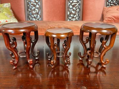 Three Chinese Wooden Stands 5H