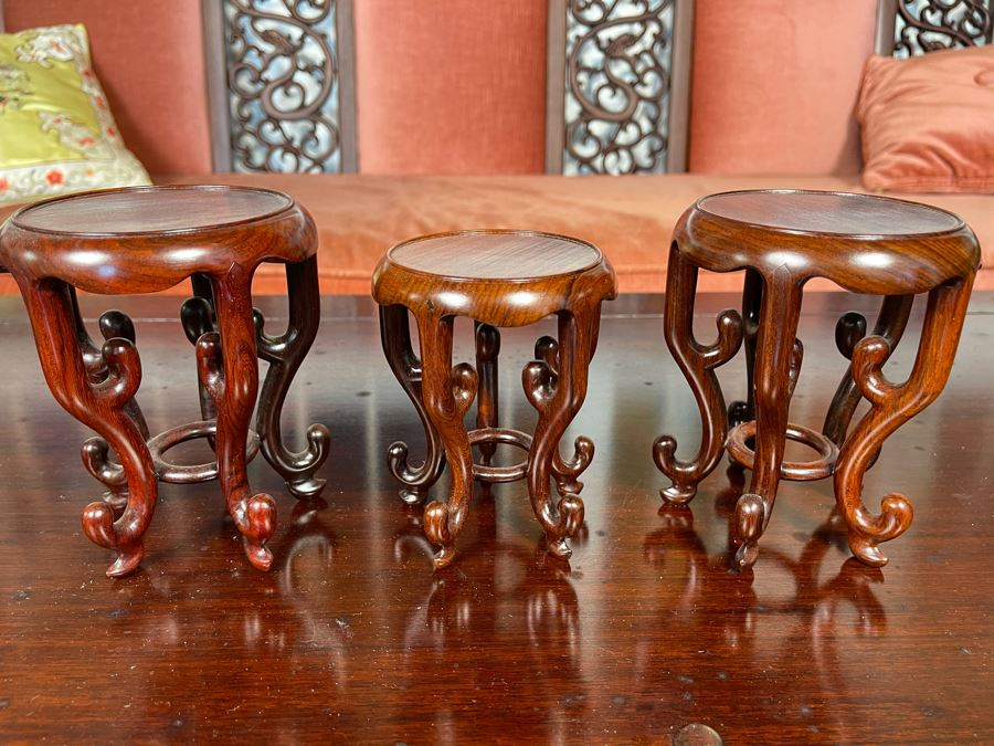 Three Chinese Wooden Stands 5H [Photo 1]