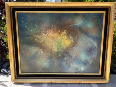 Original Mid-Century Painting On Board Signed (Will Post Artist And Measurements)