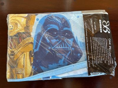 New Old Stock Star Wars One Standard Size Pillow Case 20 X 30