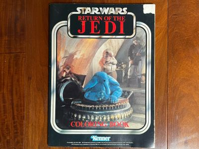 Star Wars Return Of The Jedi Coloring Book Kenner 1983