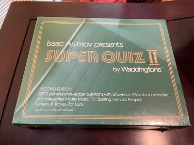 JUST ADDED - New Sealed Isaac Asimov Presents Super Quiz II Game By Waddingtons