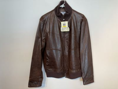 JUST ADDED - New With Tags Calvin Klein Men's Leather Jacket Size M Retails $598
