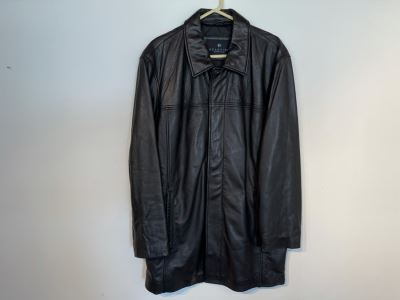 JUST ADDED - Kenneth Cole Reaction Men's Leather Jacket Size M - Retails $525