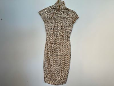 JUST ADDED - Vintage Chinese Crochet Women's Dress Size S