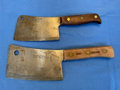 JUST ADDED - Pair Of Butcher Knives Dexter