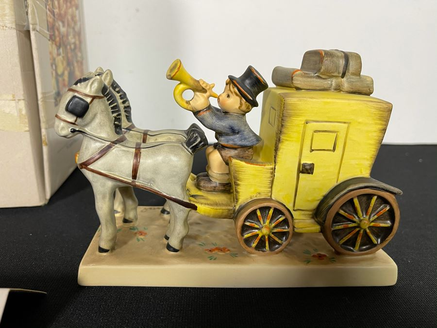 Hummel Figurine 'The Mail Is Here Diligence' #823 6W X 4.25H With Original Box [Photo 1]