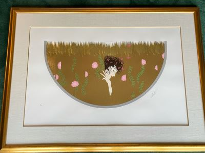 Erte Hand Signed Limited Edition Serigraph Nicely Framed 170 Of 300 (Romain de Tirtoff) 1987 34.5 X 22.5