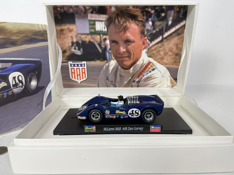 Limited Edition McLaren M6B #48 Dan Gurney Revell Slot Car 1 Of 3,000 With Box