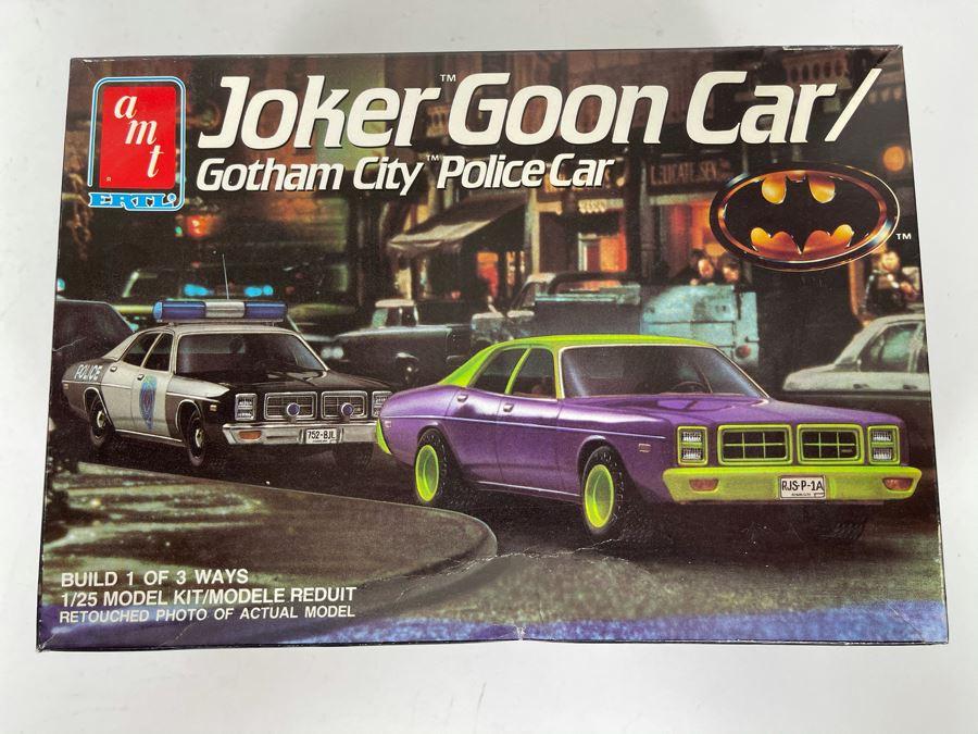 AMT ERTL Joker Goon Car / Gotham City Police Car From Batman Model Kit 1989