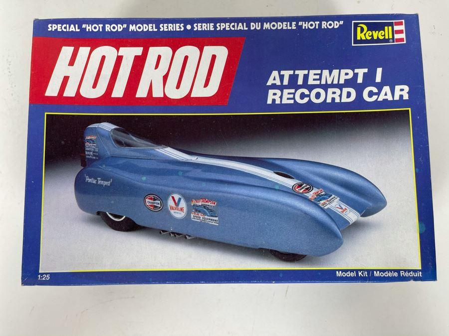 Revell Hot Rod Series Attempt I Record Car Model Kit 1989