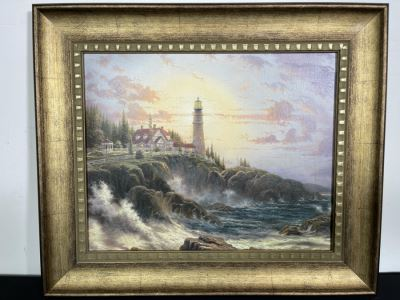 Framed Thomas Kinkade Print With COA 26W X 22H