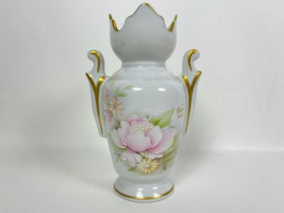 Vero Limoges France Vase Hand Decorated 8H