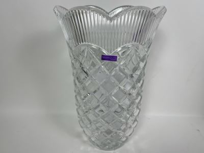 New Marquis By Waterford Crystal Basketweave Vase 11H With Box