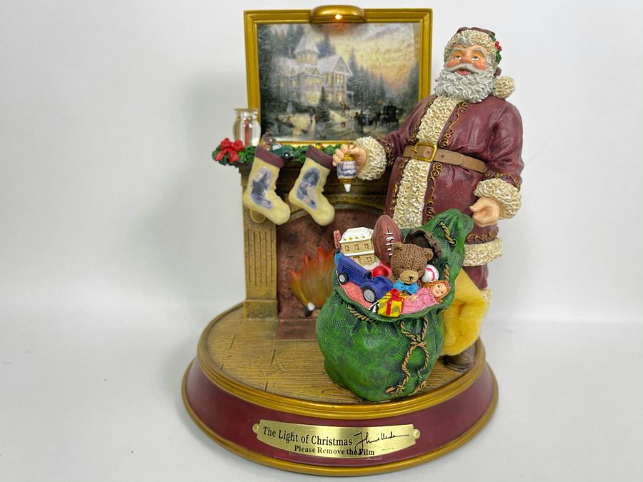 Thomas Kinkade Light Up The Holidays First Issue Illuminated Sculpture From The Light Of Christmas Collection 2003 Bradford Editions 7.5W X 8H [Photo 1]