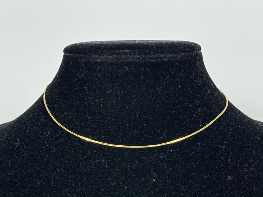 14K Gold 15' Chain Necklace 1.3g