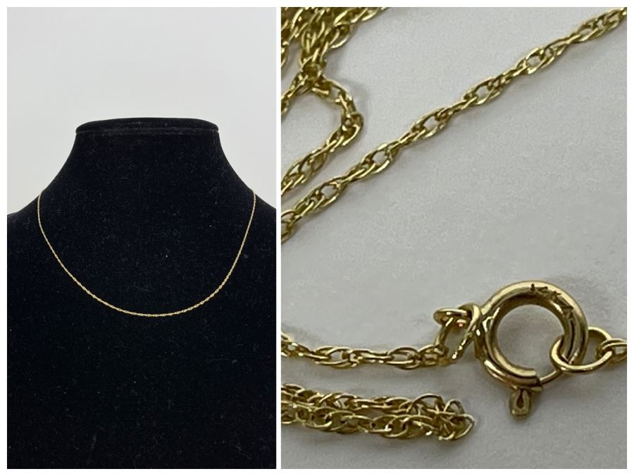 14K Gold 19' Chain Necklace 0.9g
