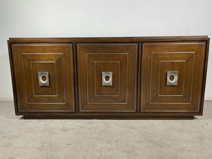 Contemporary Modernist Buffet Credenza By Lexington - Macarthur Park 74W X 20D X 33.5H Solid Wood - Very Heavy - Retails For $3,800