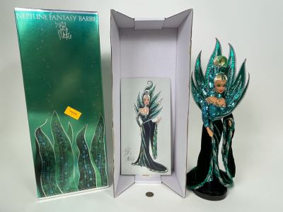 Neptune Fantasy Barbie Doll By Bob Mackie Fourth In The Bob Mackie Barbie Collection With Box Mattel 1992