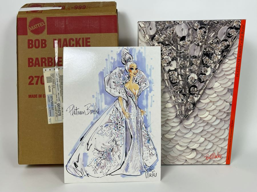 Platinum Barbie Doll By Bob Mackie Third In The Bob Mackie Barbie Collection New In Box Mattel 1991