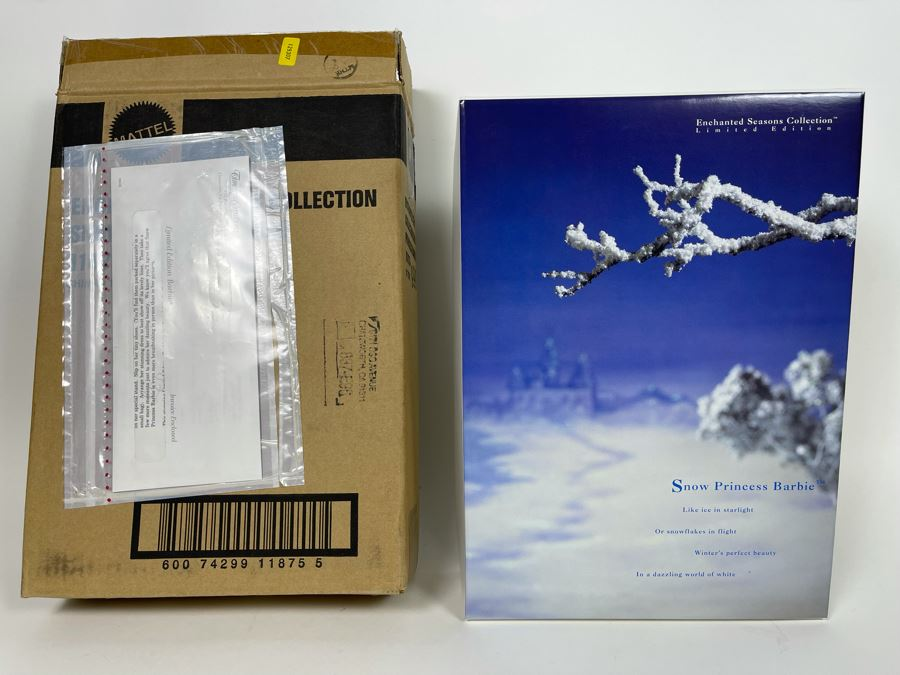 Snow Princess Barbie Enchanted Seasons Collections Winter Edition First In Series New In Box Mattel 1994