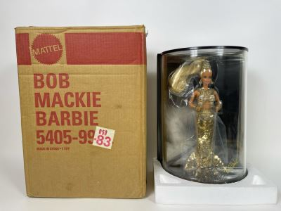 Gold Barbie Doll By Bob Mackie First In The Bob Mackie Barbie Collection With Box Mattel 1990
