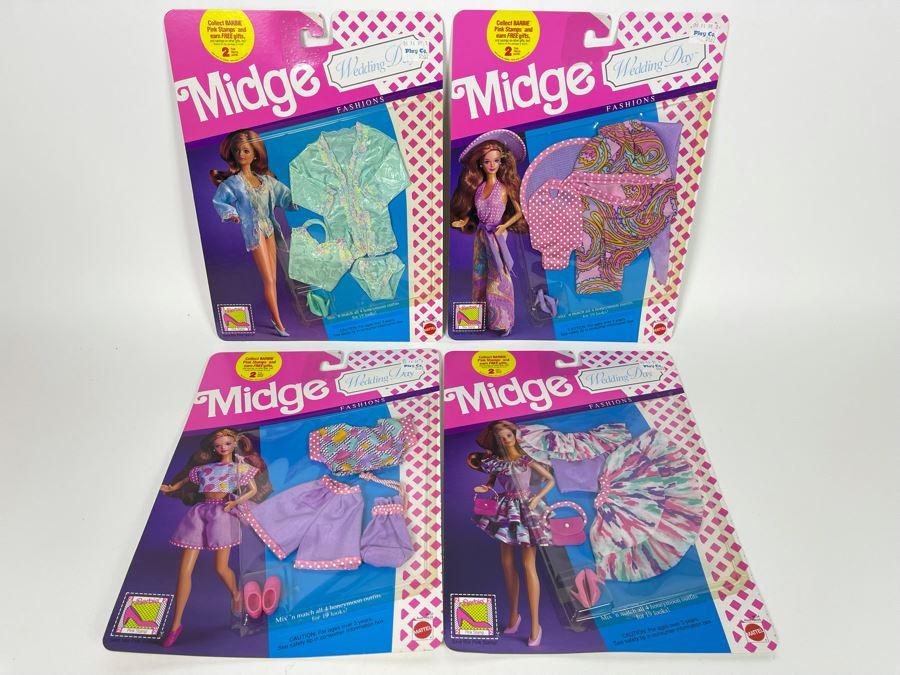 Set Of Four New Midge Wedding Day Barbie Clothes Mattel 1990