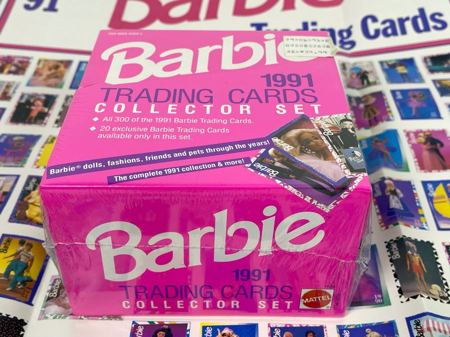 Sealed 1991 Barbie Trading Cards Collector Set All 300 Of The 1991 Barbie Trading Cards With Poster Mattel