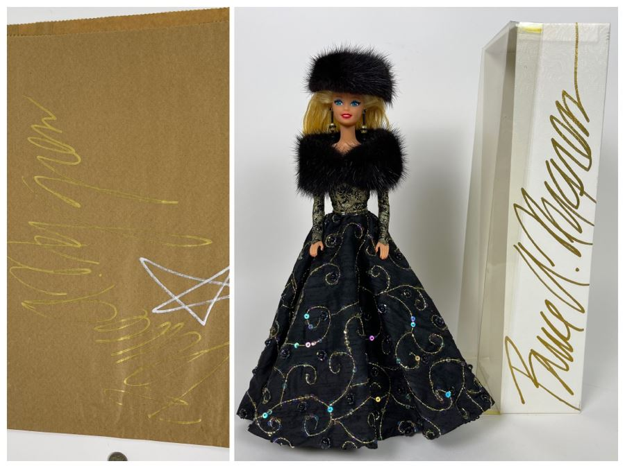 One Of A Kind Barbie By Bruce A. Nygren Signed Box With Artwork And Signed Bag By Bruce A. Nygren Retailed $250