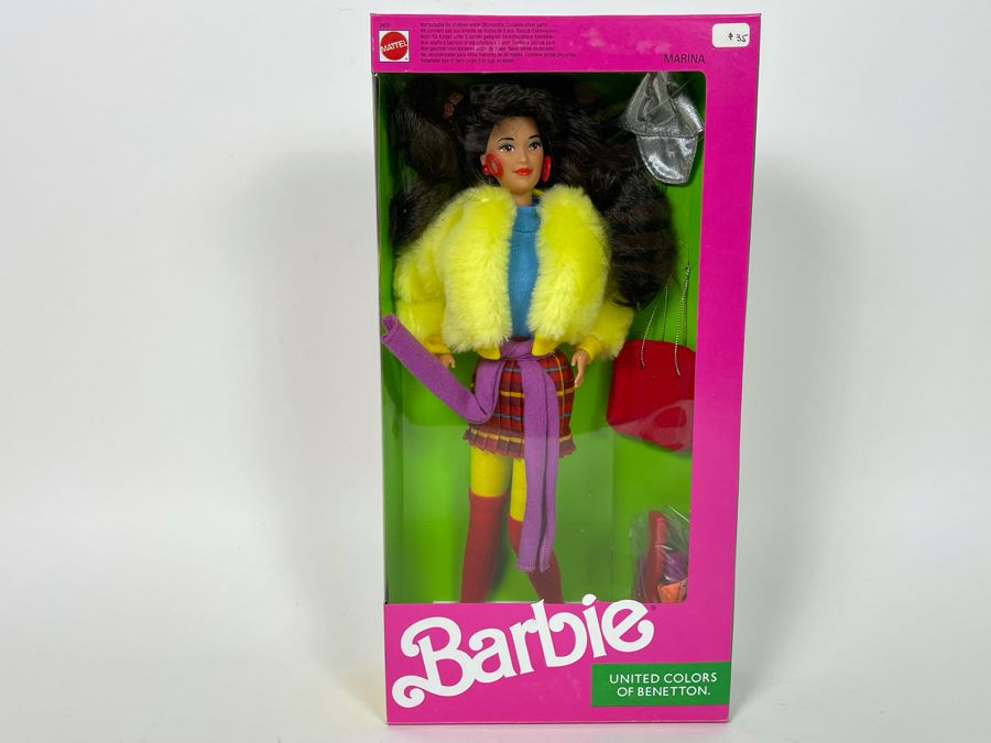 Marina Barbie United Colors Of Benetton New In Box Doll Mattel 1990 [Photo 1]