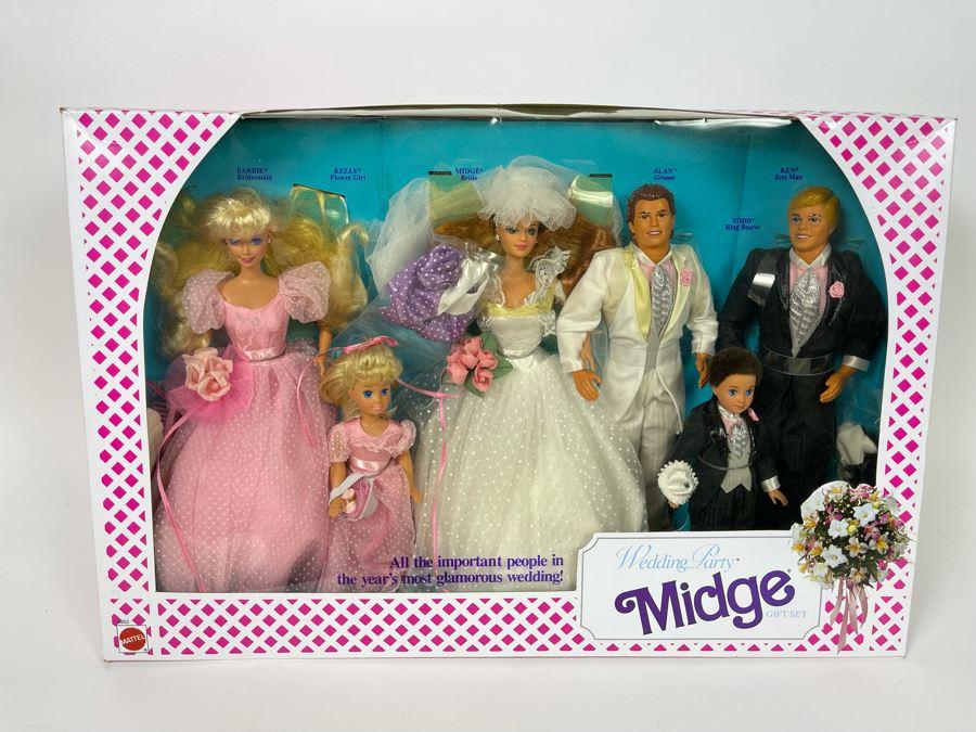 Wedding Party Midge Gift Set Barbie New In Box Doll Mattel 1990