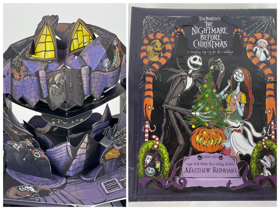 Tim Burton's The Nightmare Before Christmas Pop-Up Book Disney Editions Retailed $65