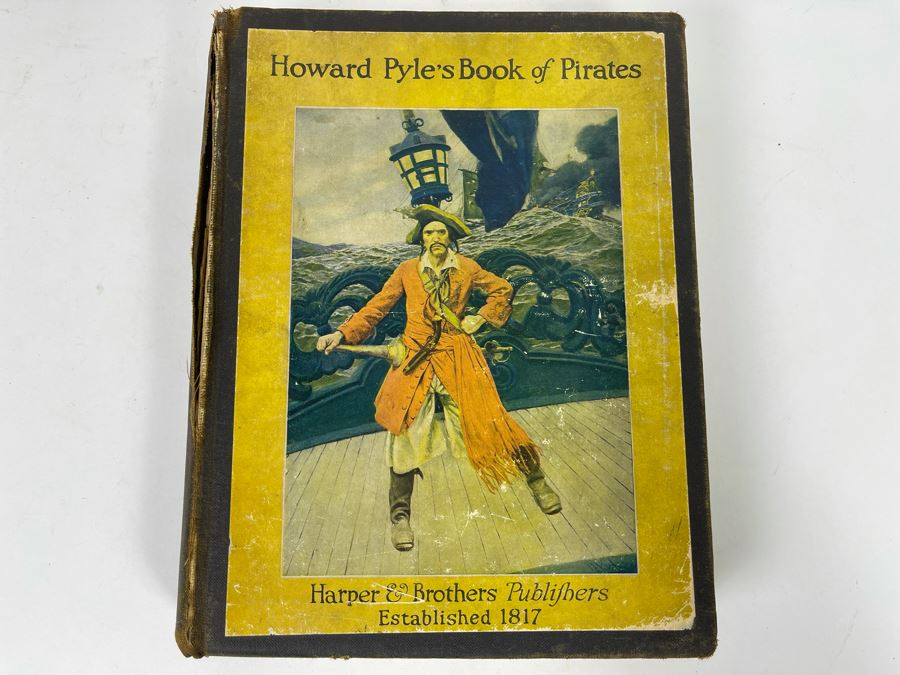 JUST ADDED - Vintage 1921 Book Howard Pyle's Book Of Pirates With Illustrations