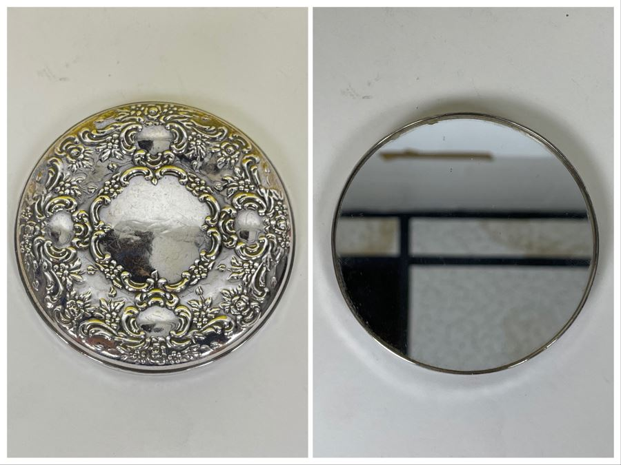 JUST ADDED - Towle Repousse Sterling Silver Compact Mirror