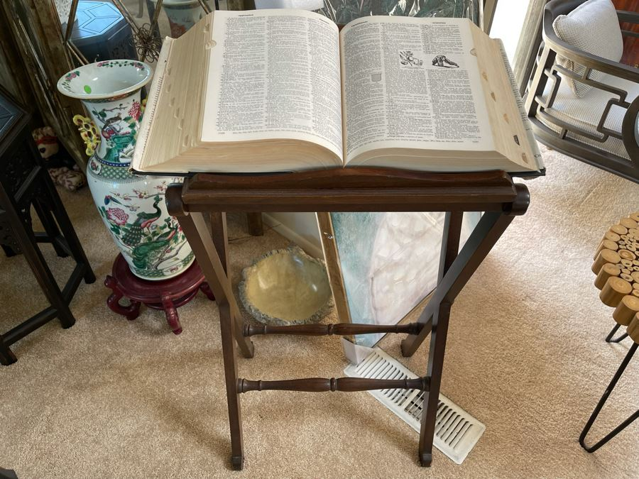 Dictionary With Wooden Book Music Stand 20W X 14D X 38H