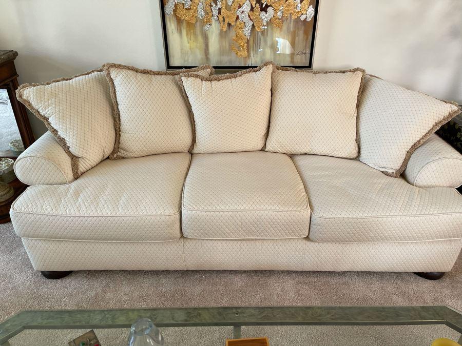 Bernhardt Upholstered Sofa 50% Duck Feathers 92W X 39D X 29H