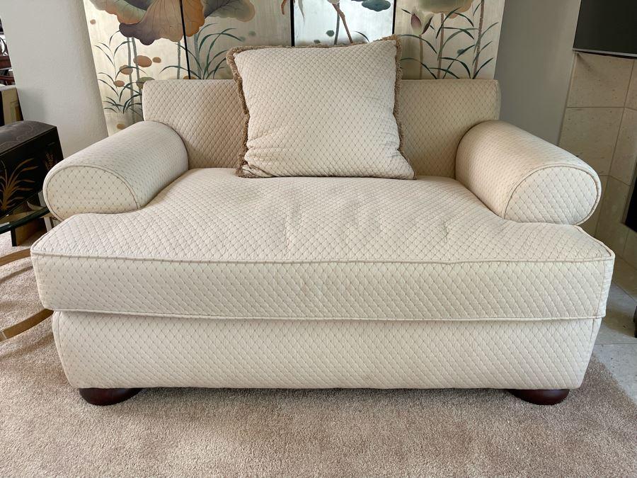 Bernhardt Oversized Upholstered Armchair 59W X 38D X 29H