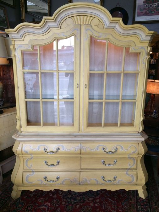 Drexel French Provincial China Cabinet W/ Lights [Photo 1]