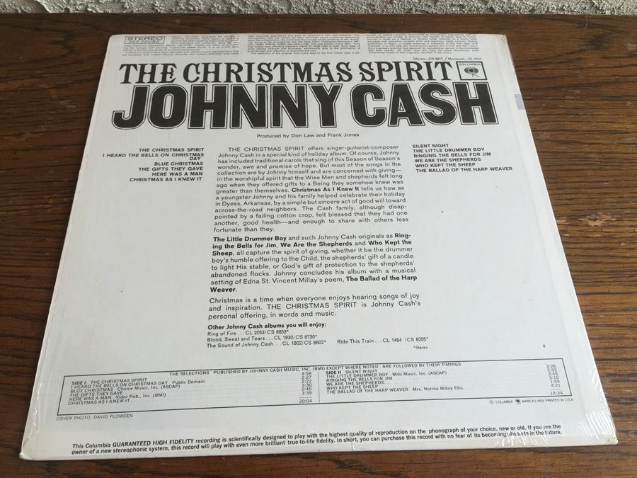 Johnny Cash - The Christmas Spirit - Columbia - CS 8917
