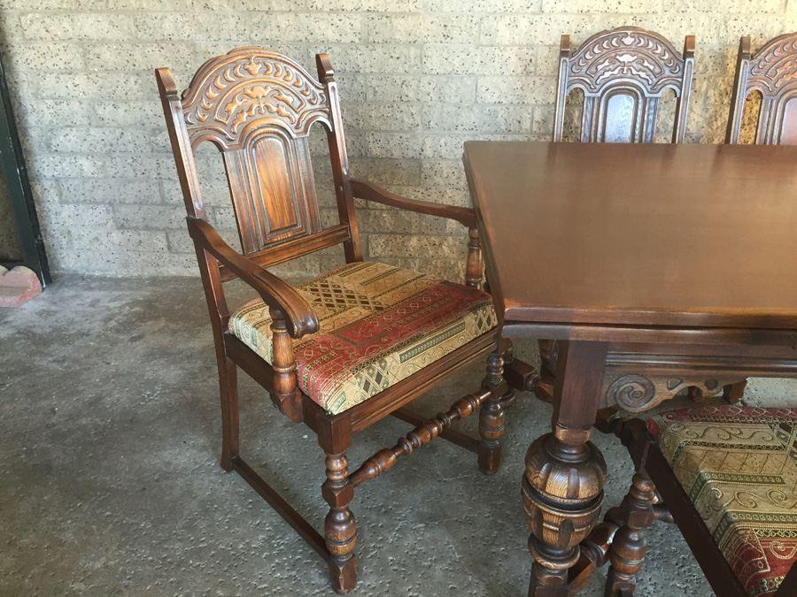 Vintage bernhardt furniture co dining table charity item
